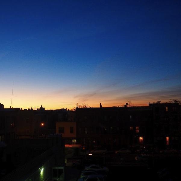 Sonnenaufgang in Bushwick, Brooklyn