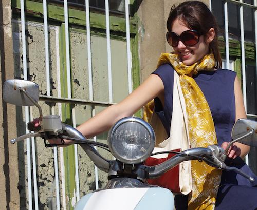 Schal in Gelb von Stadtkleid Berlin