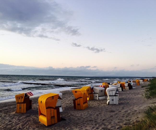 Strandkörbe am Darß