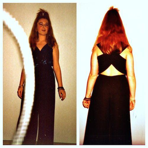 Valerie Müller von life40up im extravaganten Partykleid