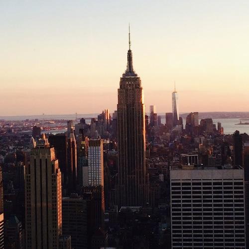 Empire State Building in der Abendsonne