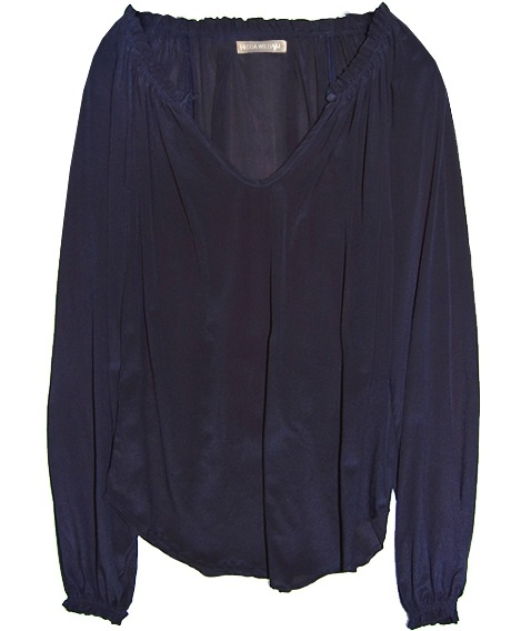 blaue Bluse aus Seide von Hedda William