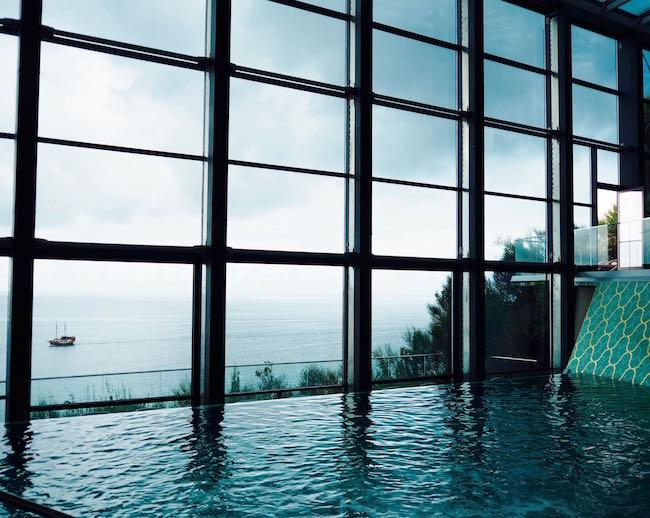 Infinity Pool im Grand Hotel Bernardin