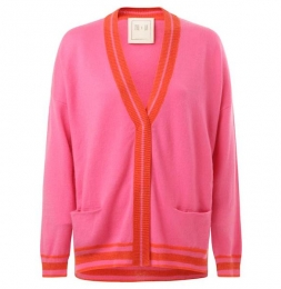 Cardigan in Wolle aus Fair Fashion in Pink und Rot