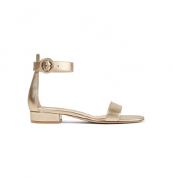 Sandalen in Gold von Gianvito Rossi