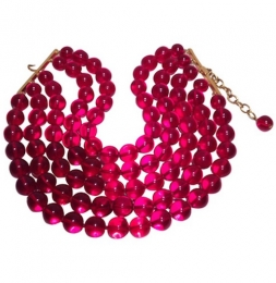 Vintage-Collier von Chanel in rot