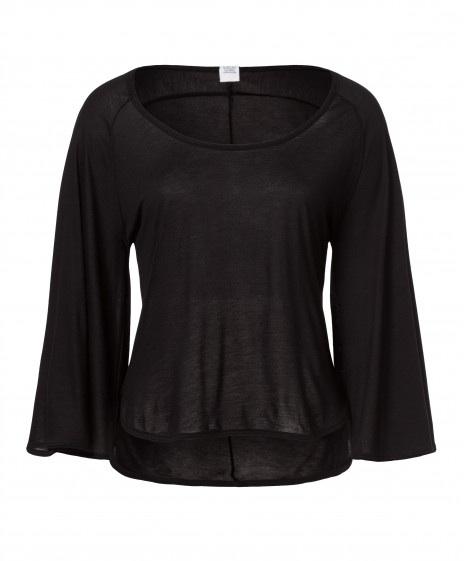 Feminines Shirt mit weiten Ärmeln aus regionaler Viskose
